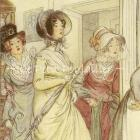 Hugh Thomson and Quality Street 1901 Edwardian Fashion Lithograph
