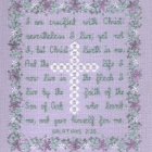 Galatians 2:20 Cross Stitch Pattern