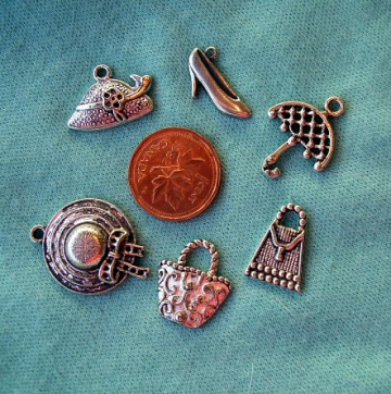 Delightful MIXED GIRLIE Charms pkg. of 6