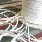 White Skinny Elastic One Eighth Inch Wide 10 Yards Continuous Length For Sewing and Crafts