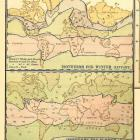 Antique 1887 Victorian Engraved World Weather Map Featuring the World and Its Climate