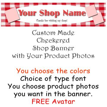 Shop Banner - checkered