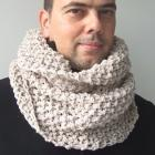 Knitting PATTERN, PDF, Beginner, DIY, Unisex, Cowl, Chunky, Tube  Scarf , for Him, For Her,