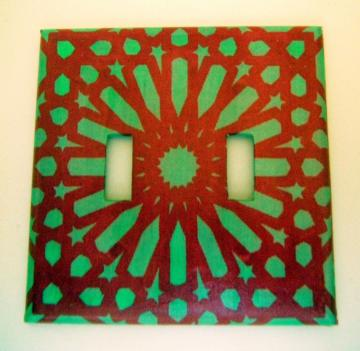 Mosque Double Toggle Light Switch Cover 3
