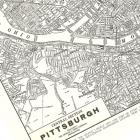 1935 Pittsburgh, Pennsylvania, USA ~ Engraved City Map