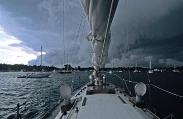 A Storm Rolls Across Put-in-Bay Harbor on Lake Erie