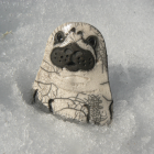 Raku Pottery Seal Pup