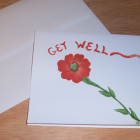 Get Well Flower Note Card
