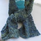 Andy Handknit Scarf of multicolor handspun wool/silk/viscose by Locks of Silver on Zibbet