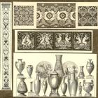 1870 Victorian Print Ornaments and Decorative Engravings, Pkt of 20