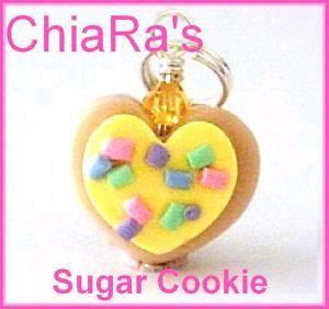 POLYMER CLAY YELLOW SUGAR COOKIE CHARM