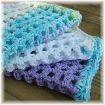 Crocheted Cotton Mesh Cloths