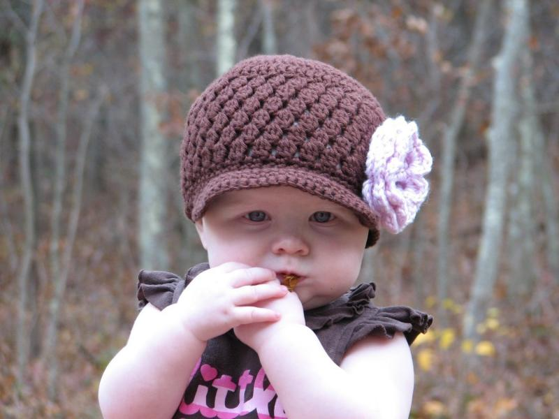 Free Crochet Pattern For Cluster Beanie : Click to Enlarge Image