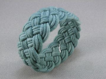 dark blue-green turks head knot rope bracelet med 1168