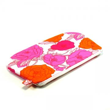 Zipper Pouch - Pink and Orange Floral