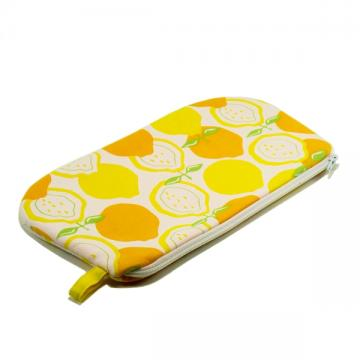 Zipper Pouch - Orange and Yellow Lemons