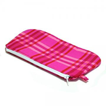 Zipper Pouch - Pink Plaid