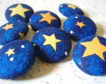 Starry Starry Night Fabric-Covered Buttons