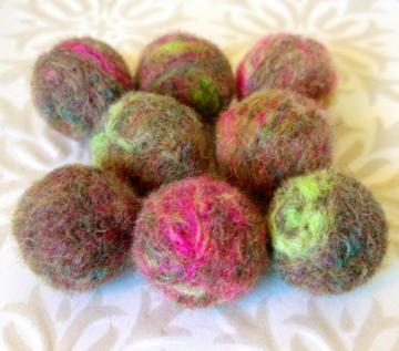 Needle Felted Balls -- Splashes of Brightness Mix