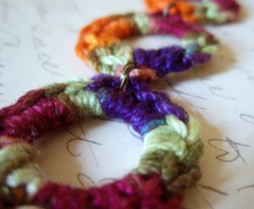 Crocheted Circle Links Bracelet