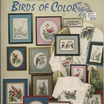 Birds of Color Vintage Cross Stitch Booklet