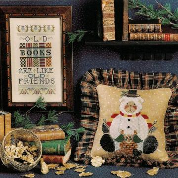 Old Books Cross Stitch Leaflet