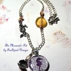 The Mermaid's Pet- handmade pendant necklace