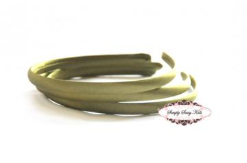 1pc Sage Satin Covered Headbands - Add Hair Flowers, Embellishments, Bows, Feathers..WHATEVER!