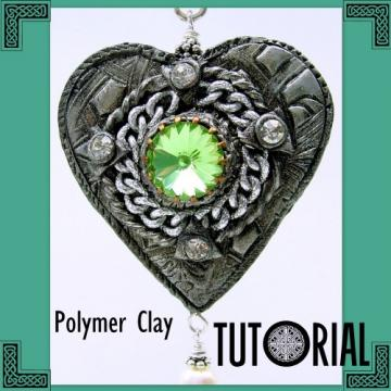Romantic Renaissance Heart Pendant - Polymer Clay Tutorial