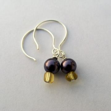 Purple Pearl Earrings E092