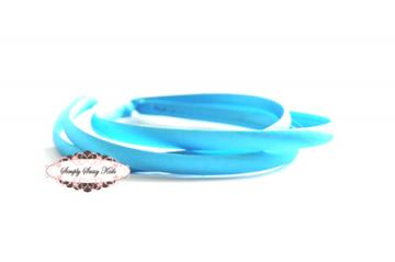1pc Turquois Satin Covered Headbands - Add Hair Flowers, Embellishments, Bows, Feathers..WHATEVER!