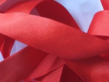 Red Grosgrain Ribbon - 6 Yards