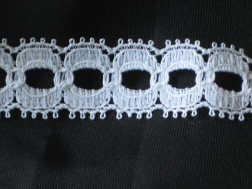 White Flat Eyelet Lace Trim - 3 3/4 Yards