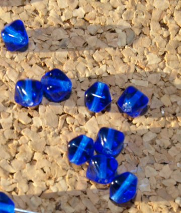 Cobalt Glass Beads 10-1110