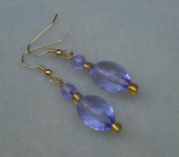 Pale Purple Facets Earrings