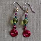 Chunky Kiwi Spiral Earrings