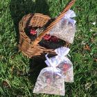 Organically Grown Lavender and Miniature Rosebud Sachet by Locks of Silver on Zibbet