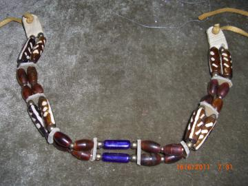 Native American Style Choker - Horn, Bone & Glass