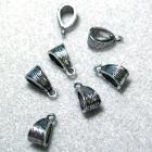 Antique Silver Bail- jewelry findings