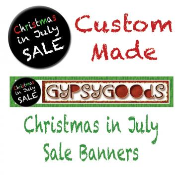 Christmas in July Shop Banners
