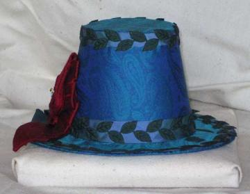 Blue/Green Paisley Hat