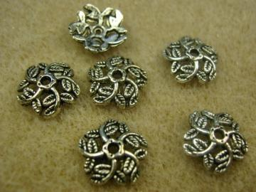 Antique Silver Plated 11mm  Bead Cap. Pkg of 50 ... BC2