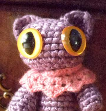 Purple kitty SILK amigurumi