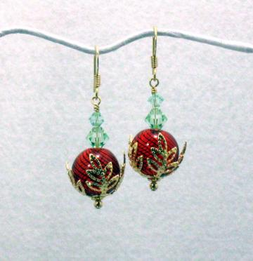 Holly Berries Earrings