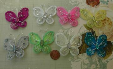 Mix 8 butterflies-2inches size