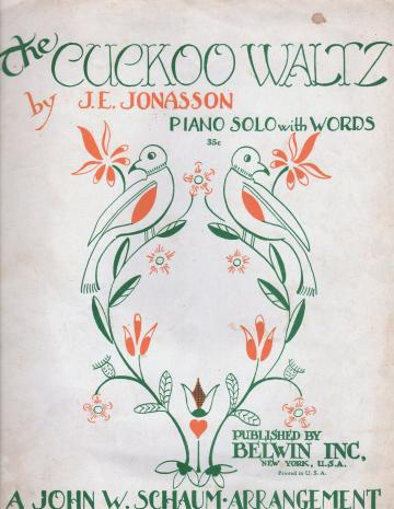 Vintage 1949 Sheet Music The Cuckoo Waltz