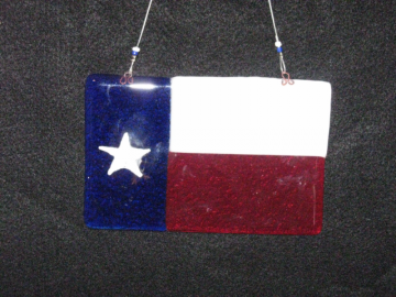 Fused Glass Texas Sun Catcher  FSGS-1