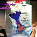 diving MERMAID tote, bag, or shopping bag- hand painted