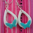 Butterfly and Teardrop Hoop Earrings