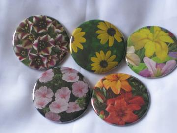 Set of 5 Magnets - Garden Flower